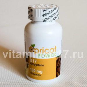 Витамин B17 Apricot Power 100 мг, 100 капсул, пр-во США
