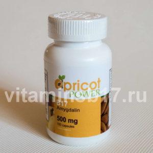 Витамин B17 Apricot Power 500 мг, 100 капсул, пр-во США