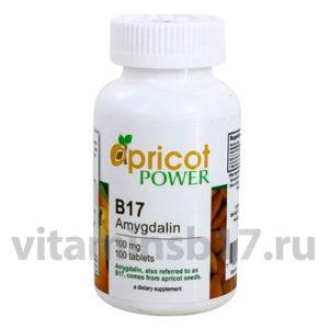 Витамин B17 Apricot Power 100 мг, 100 таблеток, пр-во США