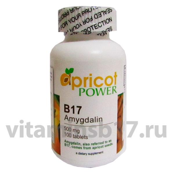 Витамин B17 Apricot Power 500 мг, 100 таблеток, пр-во США